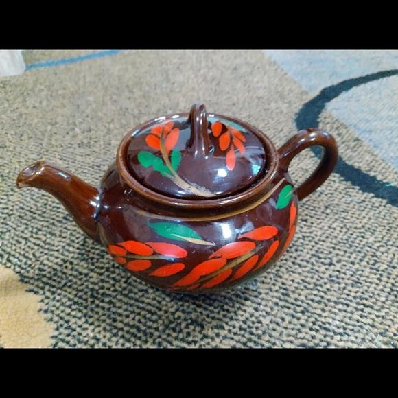 Vintage Royal Canadian art pottery teapot